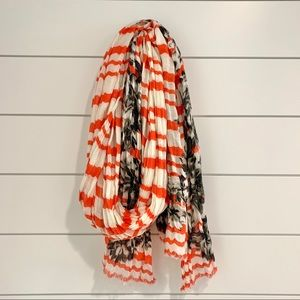 J.crew orange and black scarf 🧣